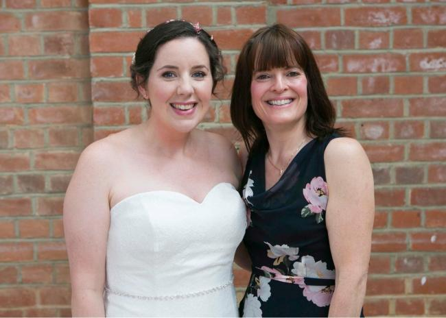 Registrar Sharon watched her Slimming World client make her vows