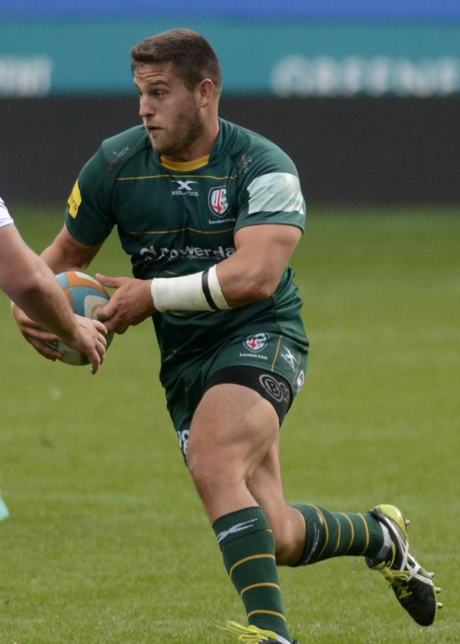 180978 - London Irish (green) v Bedford Blues - pics by Paul Johns..Dave Porecki.
