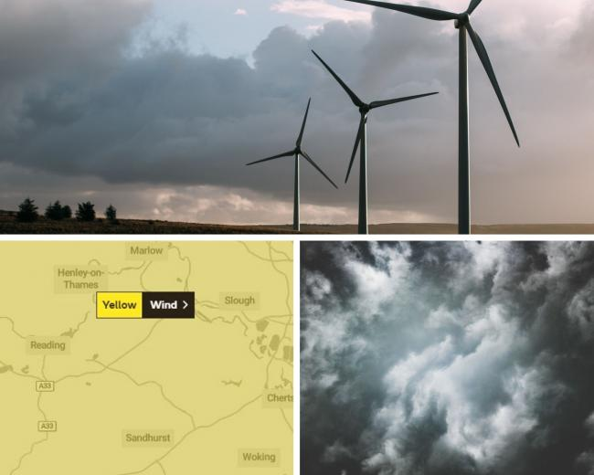 Yellow weather warning for strong winds next week