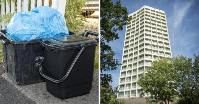 Food waste will not be coming to flats if the top team approves proposals