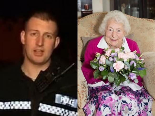 PC James Dixon and Gladys Goodwin died as a result of the crash     2 comments