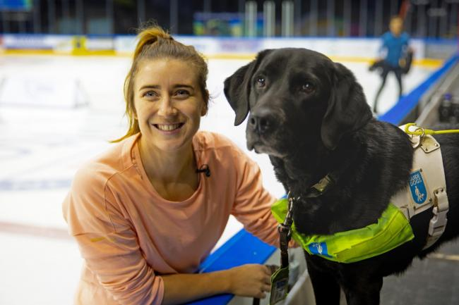 Dancing On Ice star Libby Clegg and her guide dog Hatti