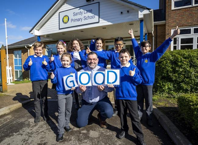 Sandy Lane Primary School was rated good in all five categories it was scored on