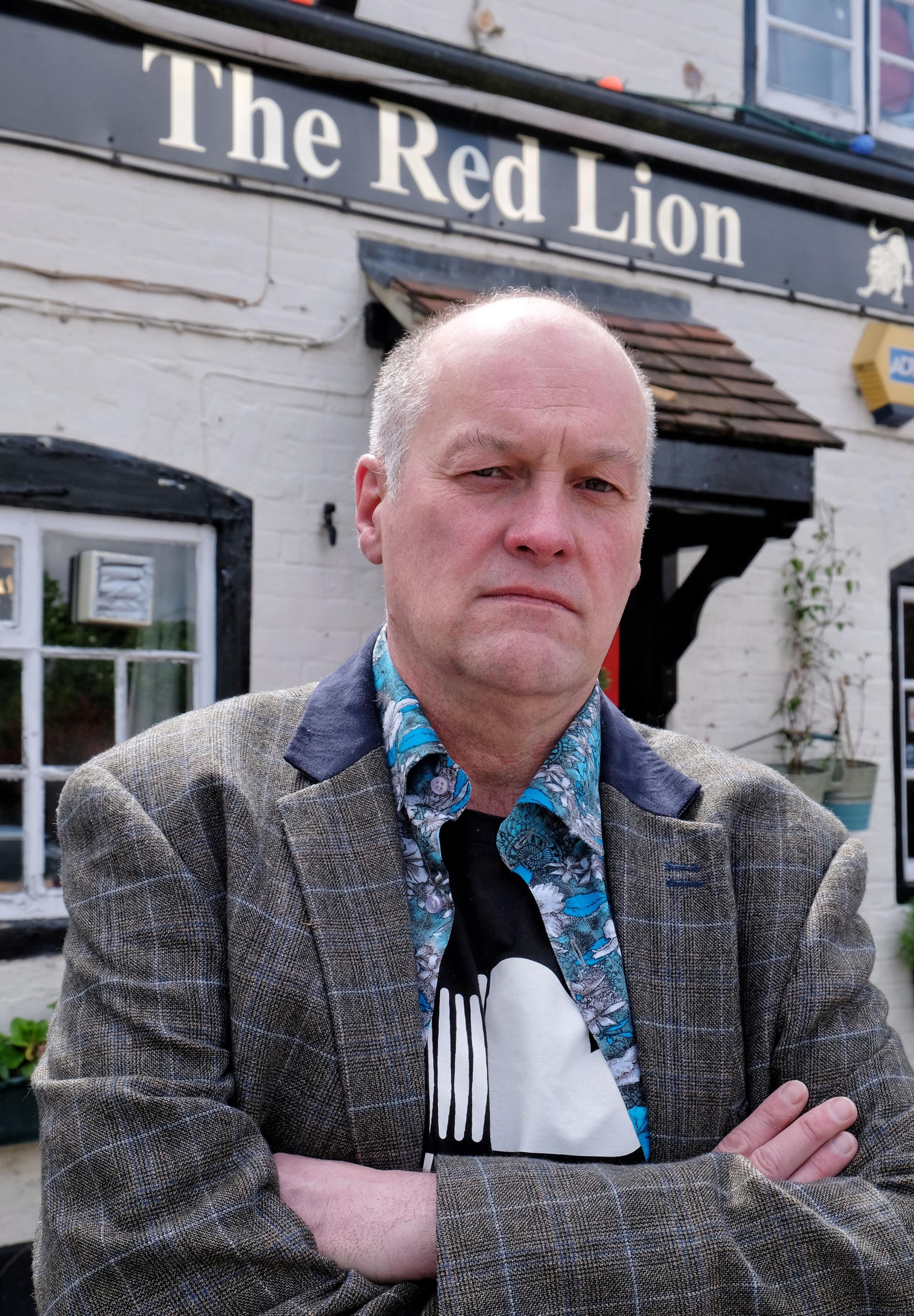 Former Red Lion landlord Marc Hunter who was given just 10 days notice to quit