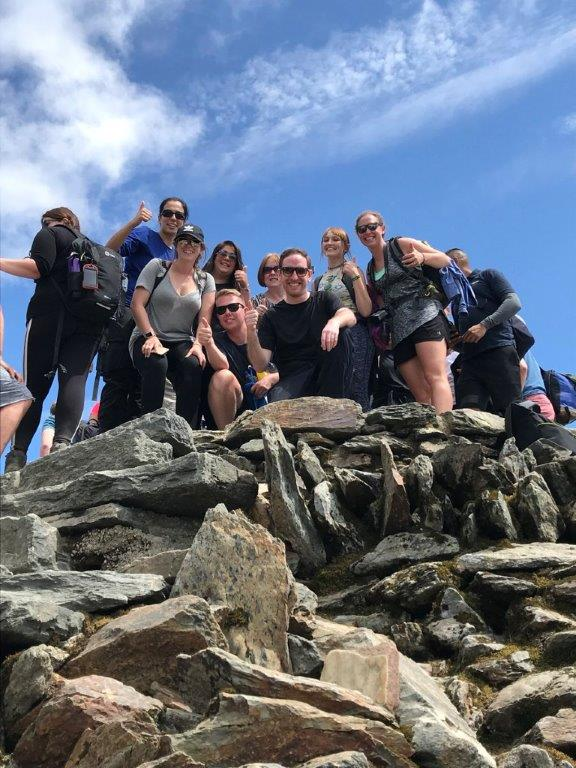 Climbing a mountain for good causes