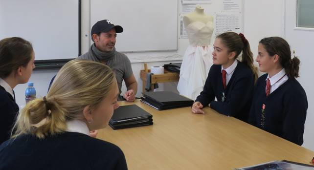 """""""Inspired and ignited"""": Fashion expert gives talks to Ascot schoolgirls about industry secrets"""