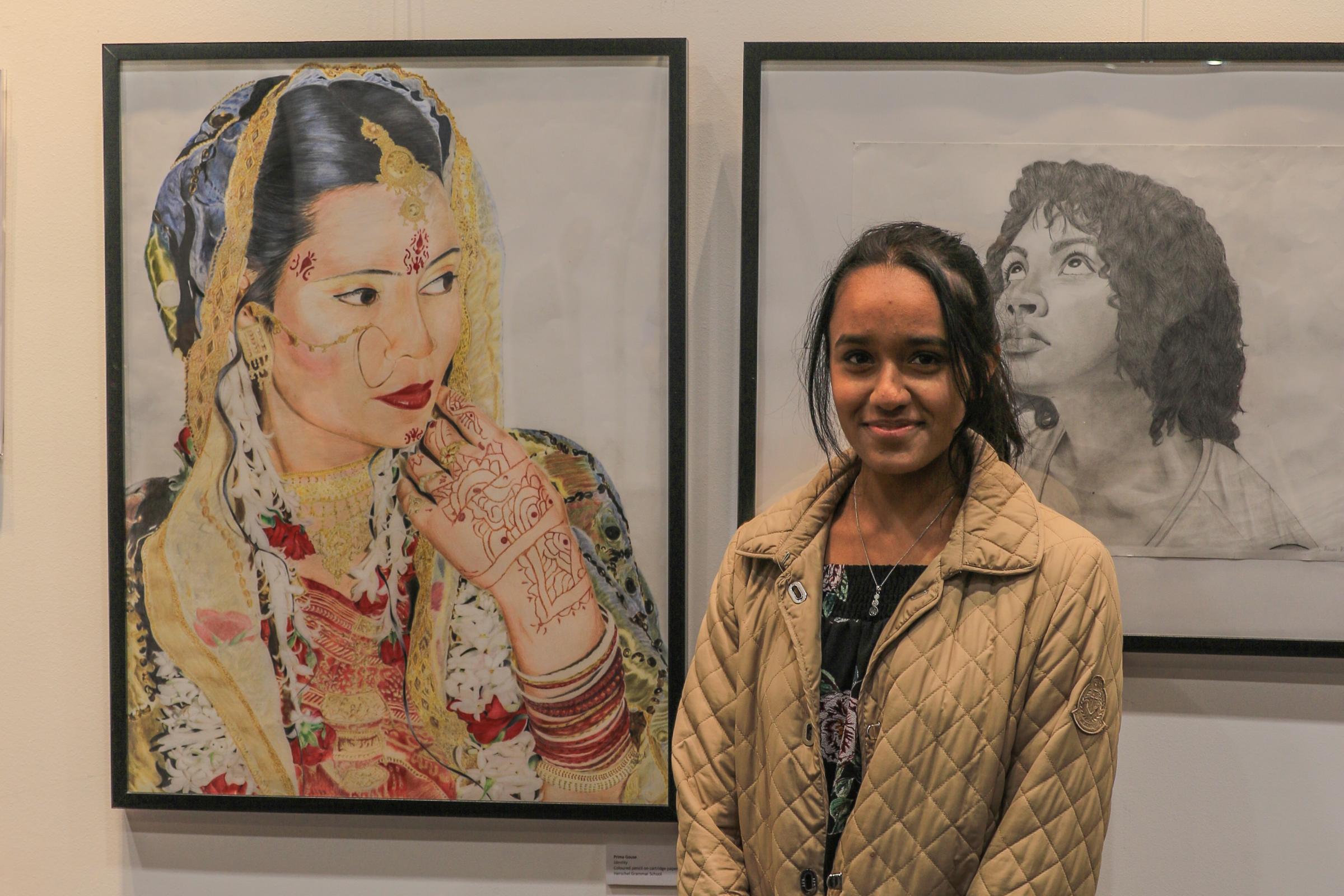 Talented school pupils big art display