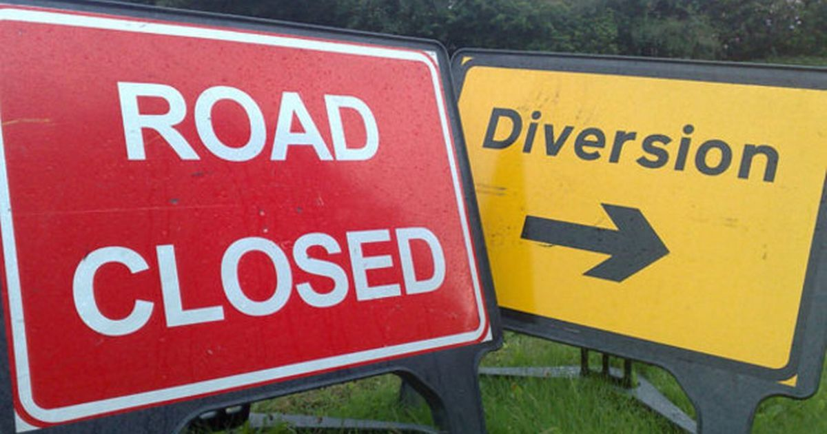 Several roads have been closed and diversion routes are in place
