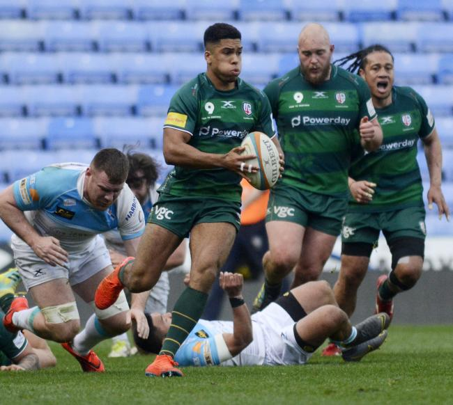 (190391) London Irish (green) v Doncaster Knights (white) for St Patrick's Day Match - pics by Paul Johns.