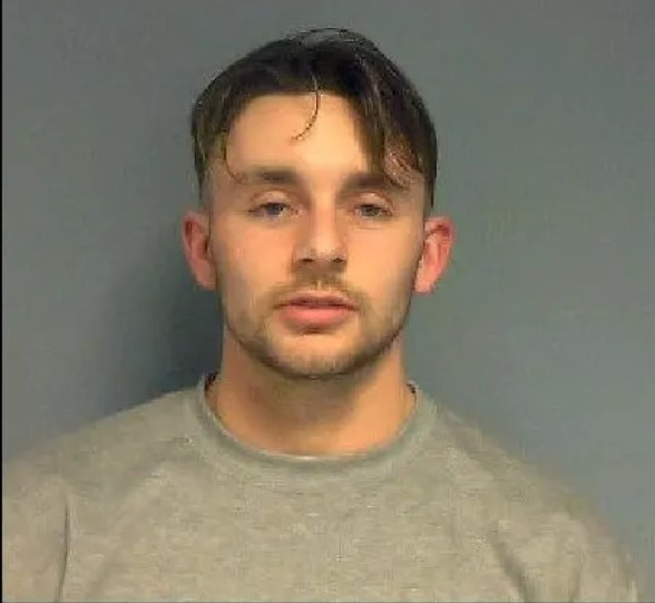 A bracknell man has been sent to prison for two years and one month after he broke into a property smashing a window and searching a bedroom.