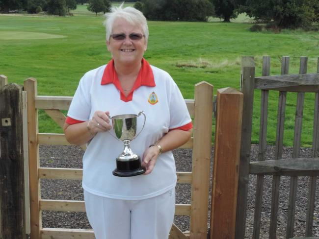 Pam Simms (pictured) and Angela Willett have reached the last-16 of the county pairs competition this week.